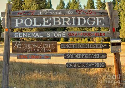 Polebridge Business Directory Art Print