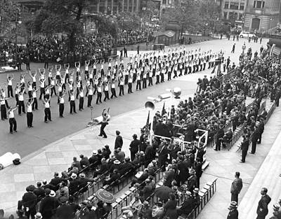 Nypd Photograph - Police College Graduates by Underwood Archives