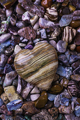 Photograph - Polished Heart Stone by Garry Gay