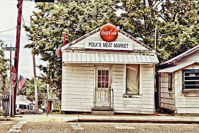 Grocery Store Photograph - Polk's Meat Market by Scott Pellegrin
