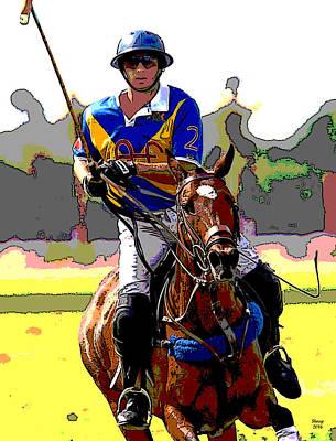 Polo Player Art Print