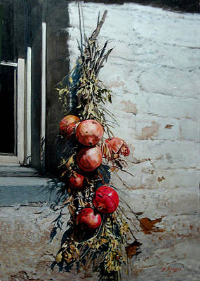 Painting - Pomegranates by Demetrios Vlachos