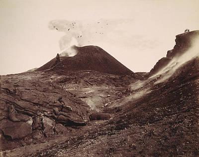 Photograph - Pompeii, Mt Vesuvius by Granger
