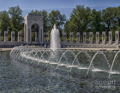 Photograph - Pond At World War II Memorial by Patricia Hofmeester
