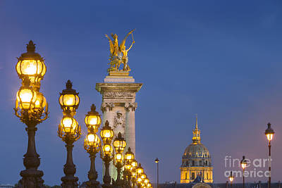 Photograph - Pont Alexandre IIi Twilight by Brian Jannsen
