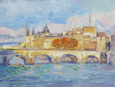 Seine Painting - Pont Neuf, Paris by Irek Szelag