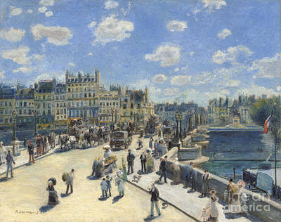River Scenes Painting - Pont Neuf  Paris by Pierre Auguste Renoir