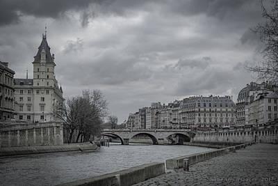 Photograph - Pont Saint Michel Paris by Henri Irizarri