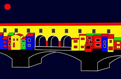 Ponte Vecchio Inspirations Art Print by Asbjorn Lonvig