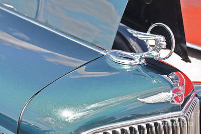 Photograph - Pontiac Eight Hood Ornament by Linda Bianic