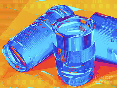 Pop Art Camera Lenses Art Print