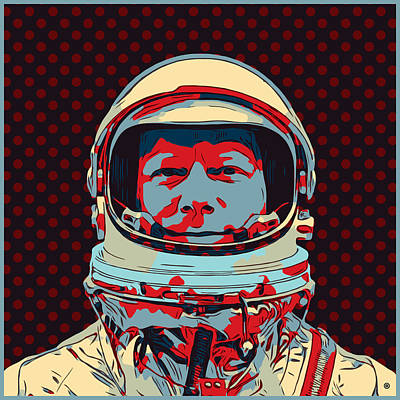 Digital Art - Pop Astronaut by Gary Grayson