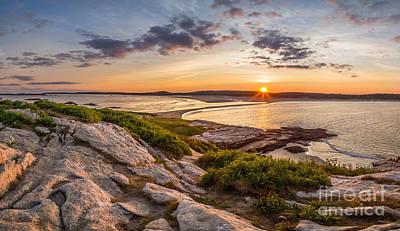 Maine Beach Photograph - Popham Beach From Fox Island by Benjamin Williamson