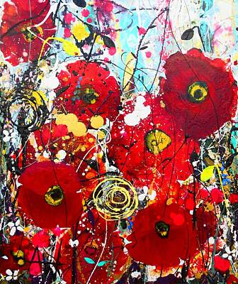 Painting - Poppies by Angie Wright
