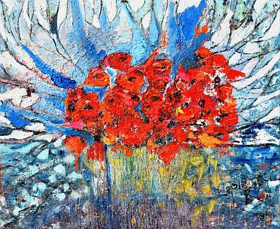 Painting - Poppies by Evelina Popilian