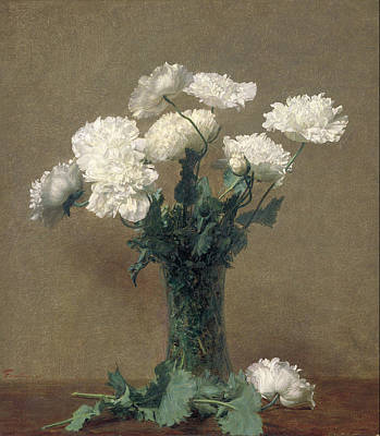 Painting - Poppies by Henri Fantin-Latou