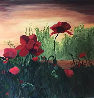 Painting - Poppies by Jane Croteau