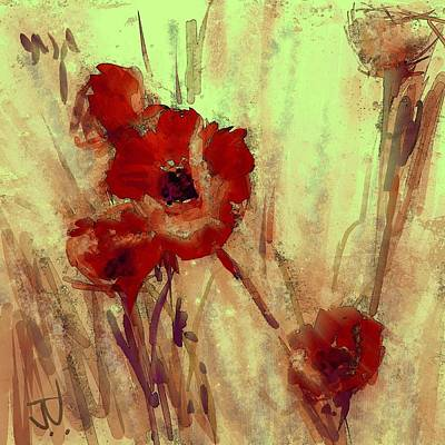Digital Art - Poppies by Jim Vance