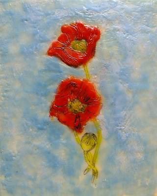 Painting - Poppies by Peggy King