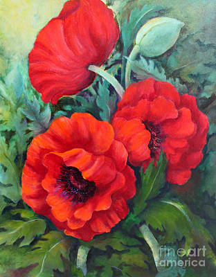 Art Print featuring the painting Poppy Family 1 by Marta Styk