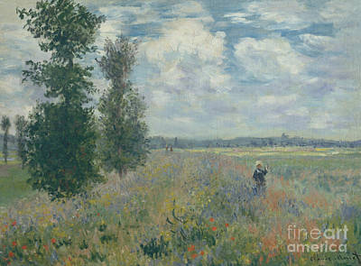 Painting - Poppy Fields Near Argenteuil, 1875  by Claude Monet
