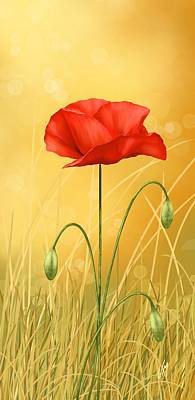 Digital Painting - Poppy by Veronica Minozzi