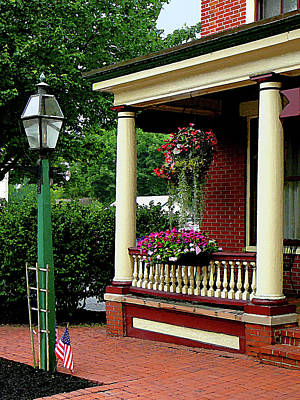 Porches Photograph - Porch With Hanging Plants by Susan Savad