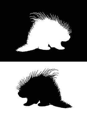 Porcupine Digital Art - Porcupine by Mordax Furittus