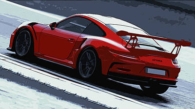 Painting - Porsche 911 - Gt3 Rs by Andrea Mazzocchetti