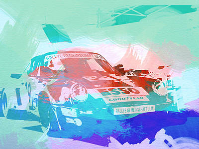 Racetrack Photograph - Porsche 911  by Naxart Studio