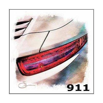 Digital Art - Porsche 911 by Robert Smith