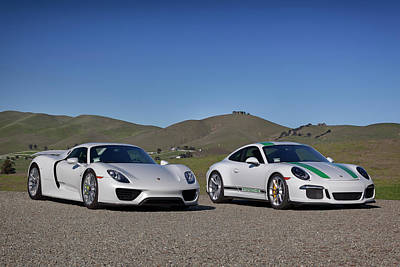 Photograph - #porsche #911r And #918spyder #print by ItzKirb Photography
