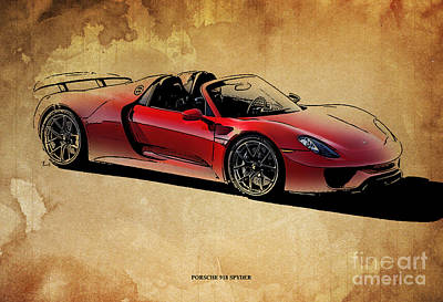 Garage Mixed Media - Porsche 918 Spyder by Pablo Franchi