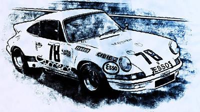 Painting - Porsche Carrera Rsr, 1973 - 03 by Andrea Mazzocchetti