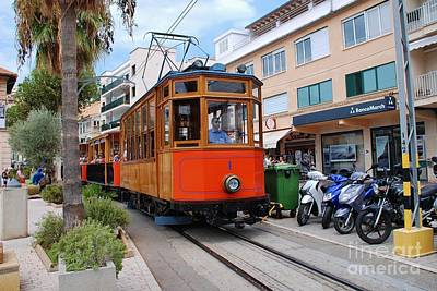 Photograph - Port De Soller Tram In Majorca by David Fowler