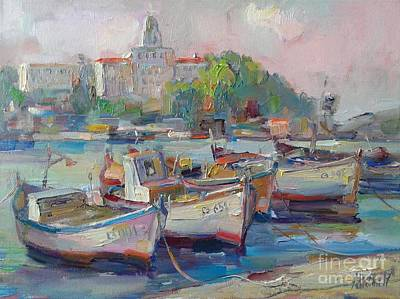 Painting - Port With Boats by Angelina Nedin