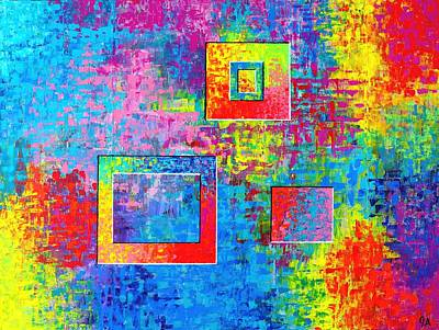 Painting - Portals Of Color by Jeremy Aiyadurai