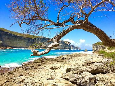 Blue Photograph - Porte D Enfer, Guadeloupe by Cristina Stefan