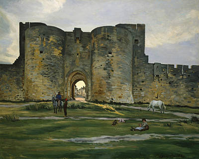 Painting - Porte De La Reine At Aigues-mortes by Frederic Bazille