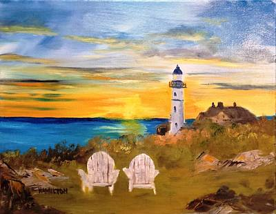 Painting - Portland Head Lighthouse by Larry Hamilton