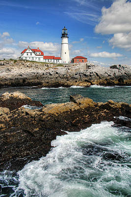 Digital Art - Portland Head Lighthouse by Patrick Groleau