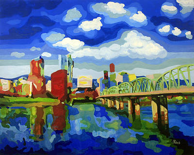 Painting - Portland In Color by Tracy Dupuis Roland
