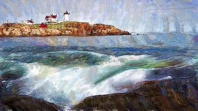 Digital Art - Portland Lighthouse by Jon Glaser