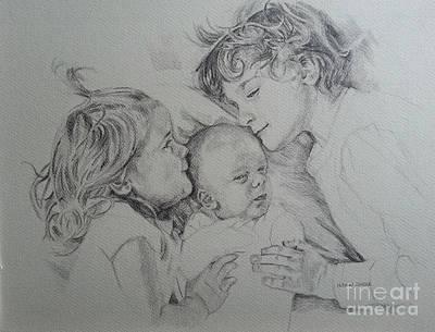 Drawing - Portrait by Nel Kwiatkowska
