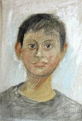 Portrait Of A Boy Art Print by George Siaba