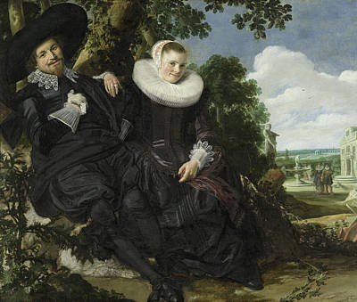 Out Of The Woods Painting - Portrait Of A Couple by Frans Hals