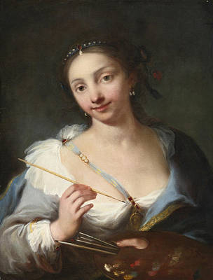 Painting - Portrait Of A Female Artist by Giuseppe Nogari