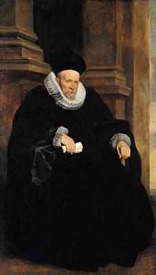 Belgium Painting - Portrait Of A Genovese Gentleman by Anthony van Dyck
