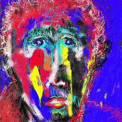 Portrait Of A Homeless Man Art Print