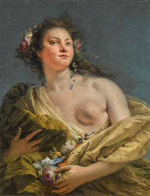 Painting - Portrait Of A Lady As Flora by Giovanni Battista Tiepolo